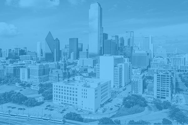 Dallas Skyline blue overlay