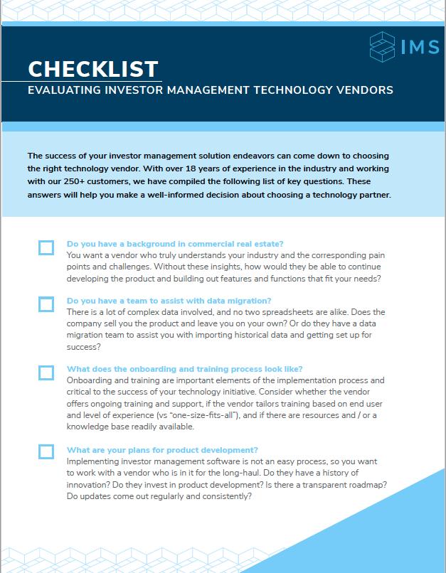 Evaluating Technology Vendors - Checklist