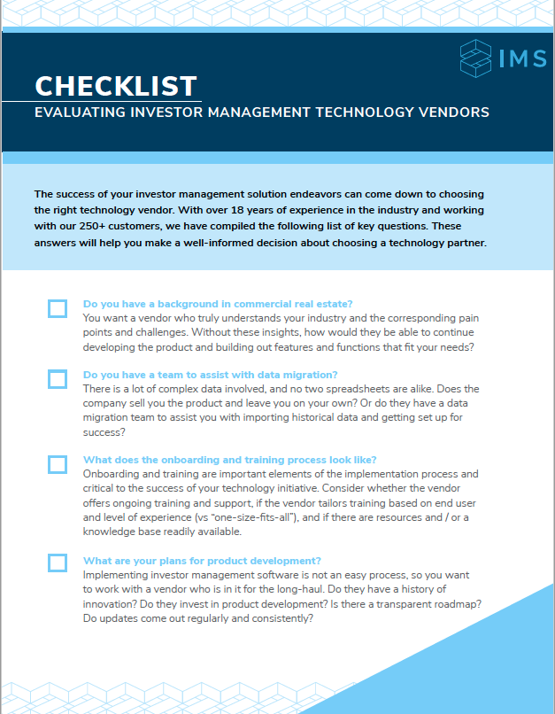 Evaluating Technology Vendors - Checklist